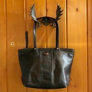 Coach Signature Stripe Perforated Carryall Handbag
